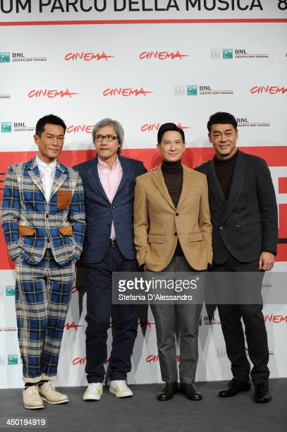 Louis Koo Benny Chan Nick Cheung and Sean Lau attend the 'Sou Duk' Photocall during The 8th Rome Film Festival on November 17 2013 in Rome Italy