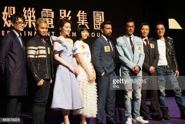 Louis Koo Gordon Lam Sammo Hung Jacky Cai Thai boxing champion Tony Jaa Yue Wu and Chris Collins showed up together to present their new movie...