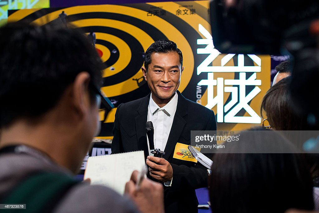 Louis Koo of Hong Kong speaks with the media at Wild City Press Conference during the 39th Hong Kong International Film Festival at Hong Kong Convention and Exhibition Centre on March 23, 2015 in Hong Kong, Hong Kong.