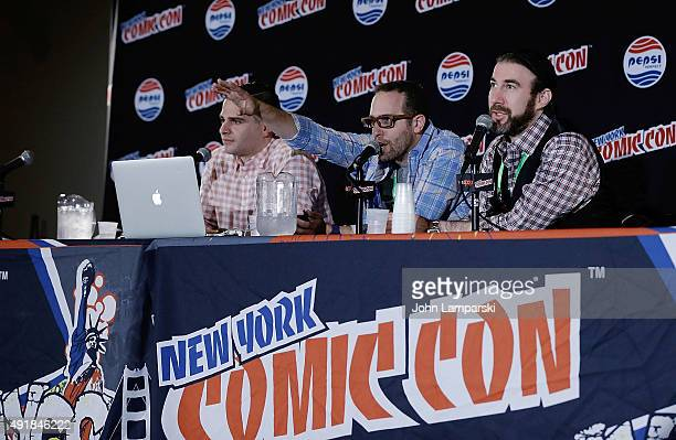 Louis Krubich Jason Aaron Lee Leshen of Back to the Future attends New York ComicCon 2015 Day 1 at The Jacob K Javits Convention Center on October 8...