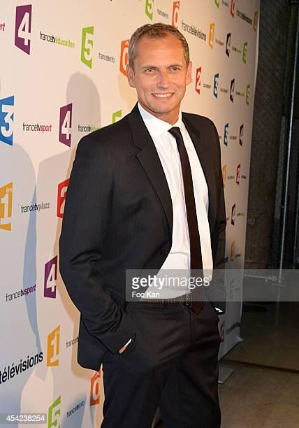 Louis Laforge attends the 'Rentree de France Televisions' at Palais De Tokyo on August 26 2014 in Paris France