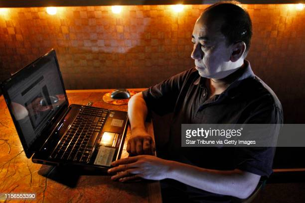 Louis Lee owner of the Acme Comedy Club in Minneapolis displayed a serious demeanor as he sat in a darkened club dining room to watch submitted...