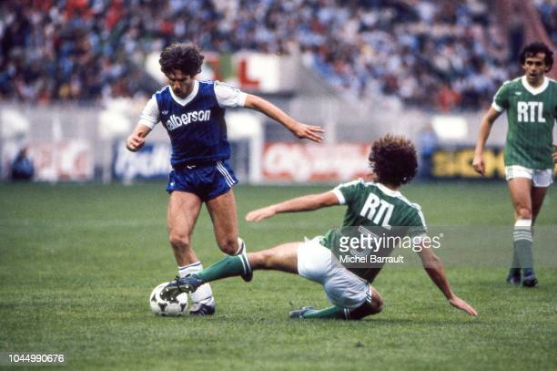 Louis Marcialis of Bastia during the French national cup final match between Bastia and St Etienne at Parc des Princes Paris France on June 13 1981