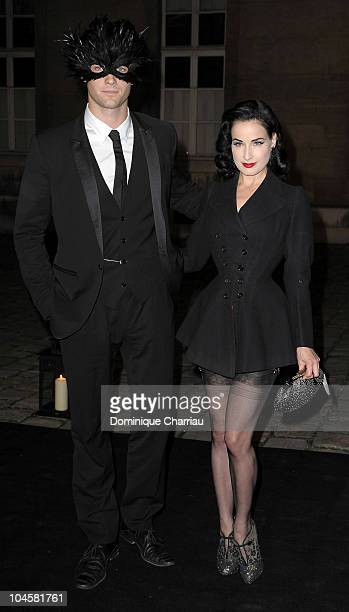 Louis Marie de Castelbajac and Dita Von Teese attend Vogue 90th Anniversary Party as part of Ready to Wear Spring/Summer 2011 Paris Fashion Week at...