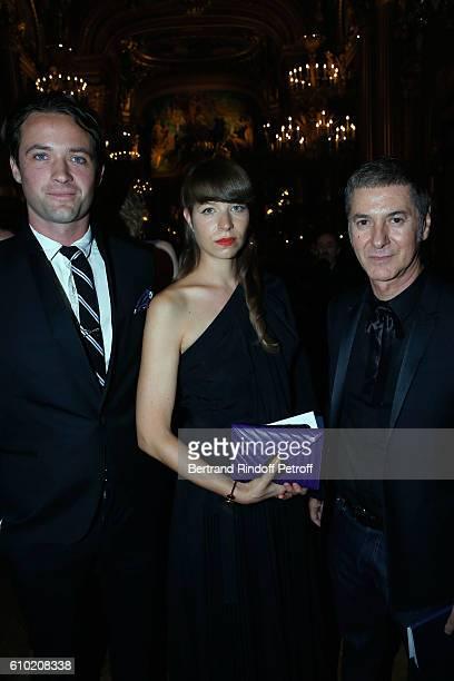 Louis Marie de Castelbajac Calypso Valois and Etienne Daho attend the Opening Season Gala at Opera Garnier on September 24 2016 in Paris France