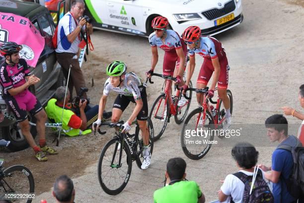 Louis Meintjes of South Africa and Team Dimension Data / Injury / Crash / Ilnur Zakarin of Russia and Team Katusha Alpecin / Pavel Kochetkov of...