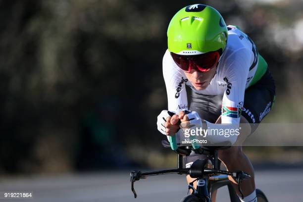 Louis Meintjes of Team Dimension Data during the 3rd stage of the cycling Tour of Algarve between Lagoa and Lagoa, on February 16, 2018.