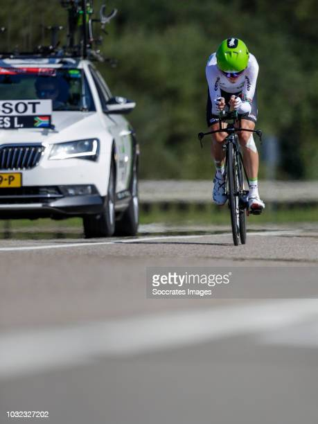 Louis Meintjes of Team Dimension Data during the Vuelta on September 11, 2018