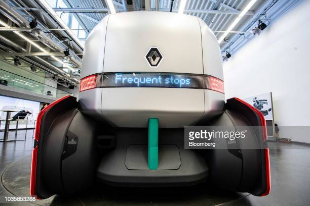 Louis Morasse director of design at Renault SA poses for a photograph inside a new Renault EZPro autonomous prototype concept commercial vehicle...