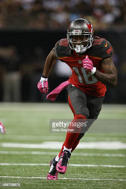Louis Murphy of the Tampa Bay Buccaneers against the New Orleans Saints at the MercedesBenz Superdome on October 5 2014 in New Orleans Louisiana