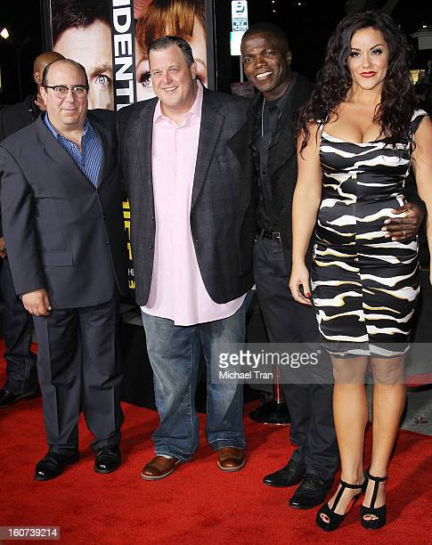 """Louis Mustillo, Billy Gardell, Reno Wilson and Katy Mixon arrive at the Los Angeles premiere of """"Identity Thief"""" held at Mann Village Theatre on..."""