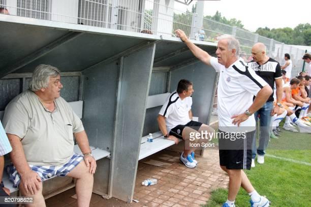 Louis NICOLLIN et Rene GIRARD Montpellier / Arles Avignon Match Amical 2011/2012 Meze