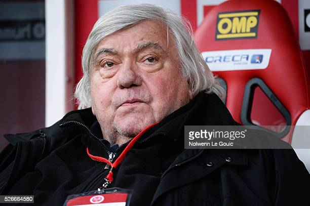 Louis Nicollin president of Montpellier during the French Ligue 1 match between Stade de Reims and Montpellier Herault SC at Stade Auguste Delaune on...
