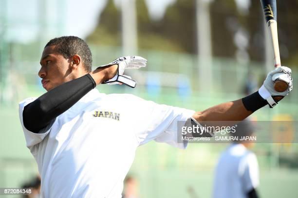 Louis Okoye of Samurai Japan in action during a Japan training session on November 9, 2017 in Miyazaki, Japan.