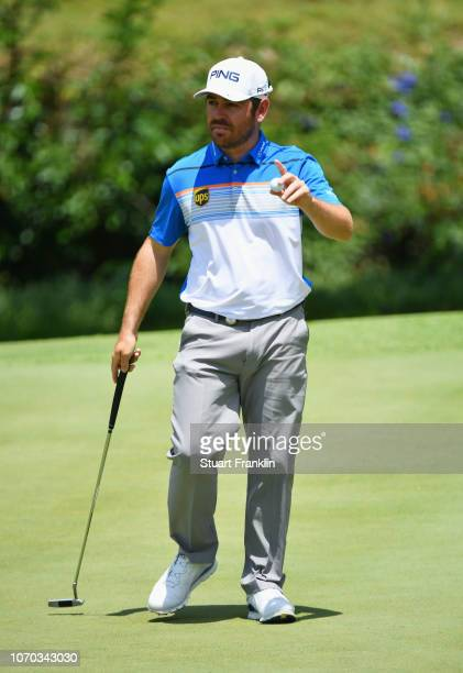 Louis Oosthuizen of South Africa acknowledges the crowd during the final round on day four of the South African Open at Randpark Golf Club on...