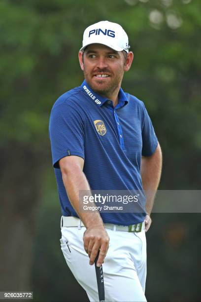 Louis Oosthuizen of South Africa after his second shot on the 18th hole during the first round of World Golf ChampionshipsMexico Championship at Club...