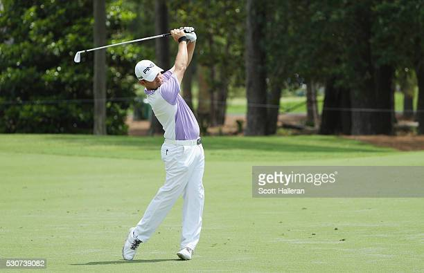 Louis Oosthuizen of South Africa in action during a practice round prior to the start of THE PLAYERS Championship on the Stadium Course at TPC...