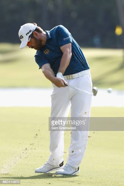 Louis Oosthuizen of South Africa plays a shot on the seventh hole during the second round of THE PLAYERS Championship at the Stadium course at TPC...