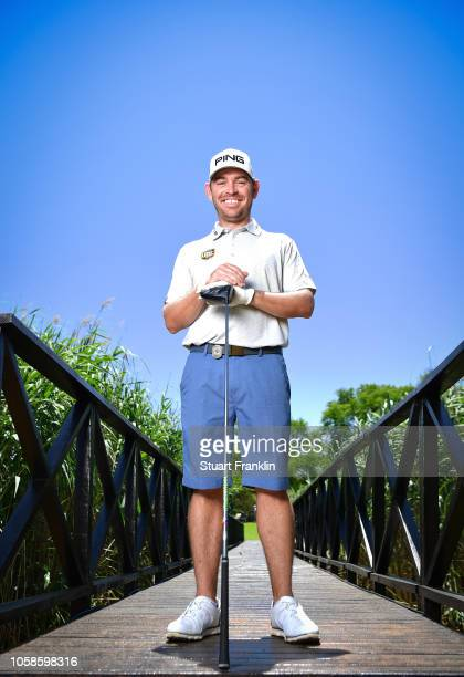Louis Oosthuizen of South Africa poses for a picture on the 17th hole during the pro am prior to the Nedbank Golf Challenge at Gary Player CC on...