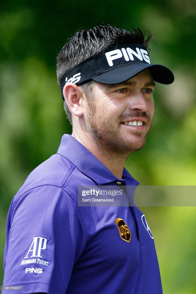 Louis Oosthuizen of South Africa waits to tee off on the first hole during the third round of the HP Byron Nelson Championship at the TPC Four Seasons on May 17, 2014 in Irving, Texas.