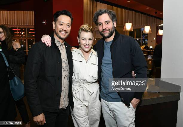 "Louis Ozawa Changchien, Kate Mulvany and Josh Radnor at Film Independent Screening Series Presents ""Hunters"" at ArcLight Culver City on February 20,..."