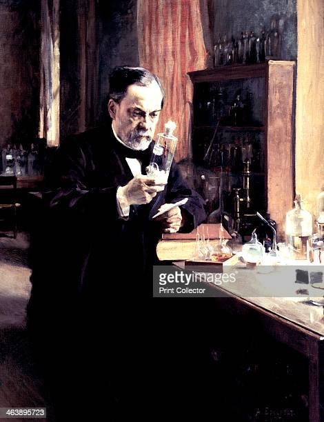 'Louis Pasteur' 1885 Pasteur French chemist and biologist at work in his laboratory Pasteur developed the pasteurisation process which kills...