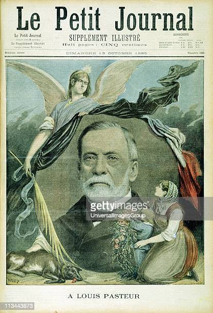 Louis Pasteur French chemist Bacteriology Hydrophobia Inoculation by attenuated culture Popular tribute from French Le Petit Journal Paris at the...