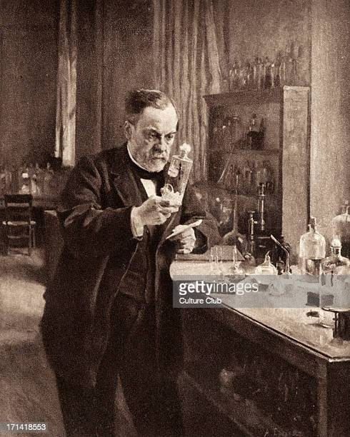 Louis Pasteur portrait of him working in his laboratory French chemist biologist and founder of modern bacteriology 1822 1895