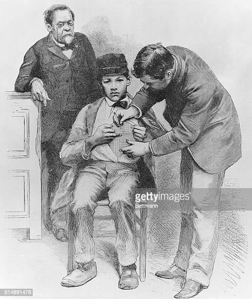 Louis Pasteur supervising vaccination at Pasteur Institute in Paris