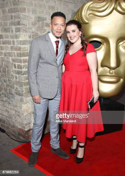 Louis Payne and Leona Vaughan attend the BAFTA Children's awards at The Roundhouse on November 26 2017 in London England