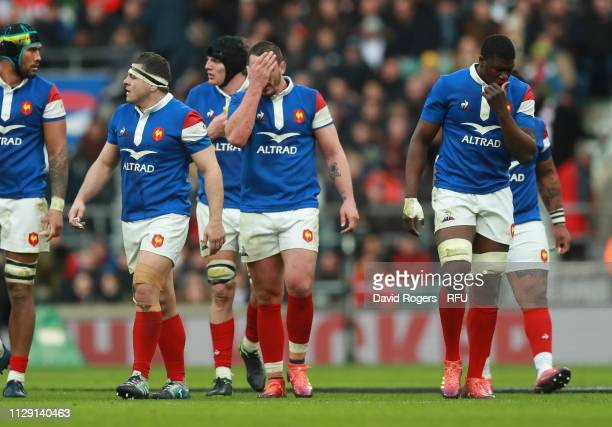 Louis Picamoles of France looks dejected during the Guinness Six Nations match between England and France at Twickenham Stadium on February 10 2019...