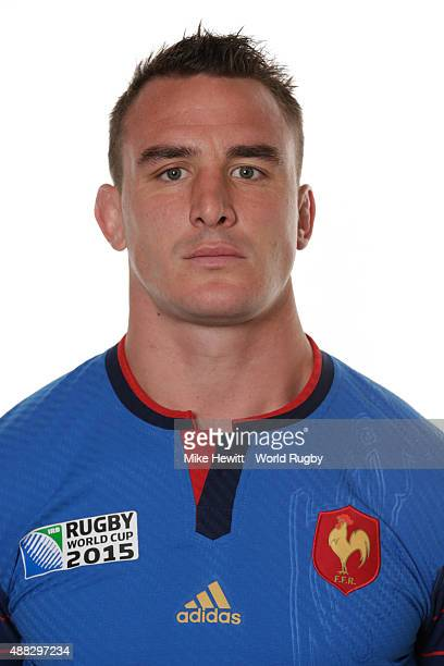 Louis Picamoles of France poses during the France Rugby World Cup 2015 squad photo call at the Selsdon Park Hotel on September 15, 2015 in Croydon,...