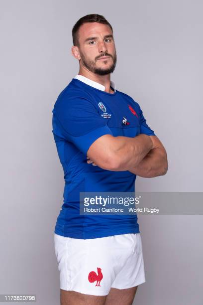 Louis Picamoles of France poses for a portrait during the France Rugby World Cup 2019 squad photo call on September 10, 2019 in Fujiyoshida,...