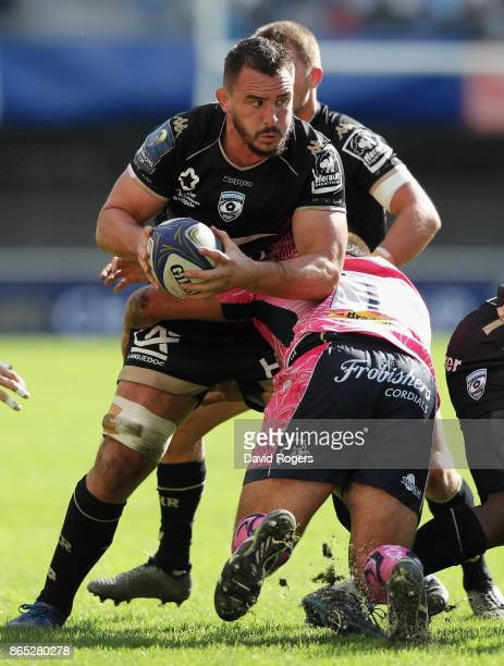 Louis Picamoles of Montpellier charges upfield during the European Rugby Champions Cup match between Montpellier and Exeter Chiefs at Altrad Stadium...