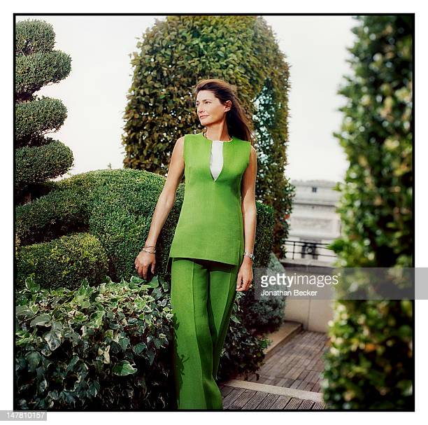 Louis Renault's granddaughter Helene Renault-Dingli poses for Town & Country Magazine on September 30, 2011 in Paris, France. PUBLISHED IMAGE.