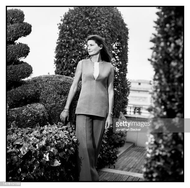 Louis Renault's granddaughter Helene Renault-Dingli poses for Town & Country Magazine on September 30, 2011 in Paris, France.