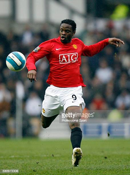 Louis Saha of Manchester Unitd in action during the Derby County v Manchester United Premiership Match at Derby UK