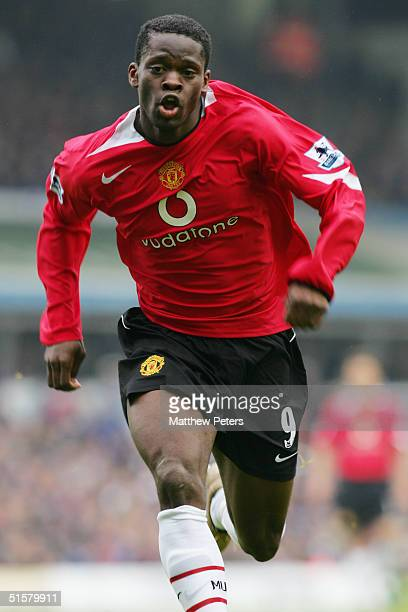 Louis Saha of Manchester United in action during the Barclays Premiership match between Birmingham City and Manchester United at St Andrew's on...