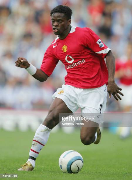 Louis Saha of Manchester United in action on the ball during the Barclays Premiership match between Blackburn Rovers and Manchester United Ewood Park...