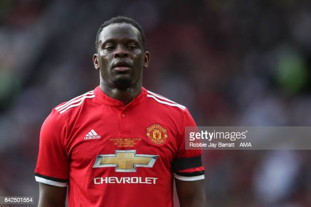 Louis Saha of Manchester United Legends during the match between Manchester United Legends and FC Barcelona Legends at Old Trafford on September 2...