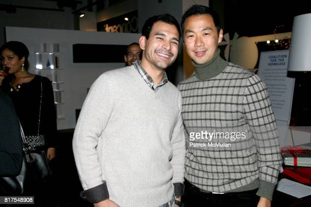 Louis Sarmiento and Shaokao Cheng attend 8th Annual BoCONCEPT/KOLDESIGN Holiday Party at Bo Concept Madison Ave on December 14th 2010 in New York City