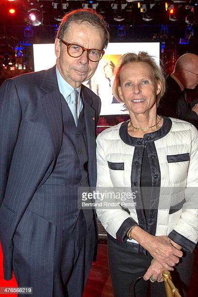 Louis Schweitzer and Christine Ockrent attend the Martine Aublet Foundation gala dinner at the Musee Du Quai Branly on March 3 2014 in Paris France