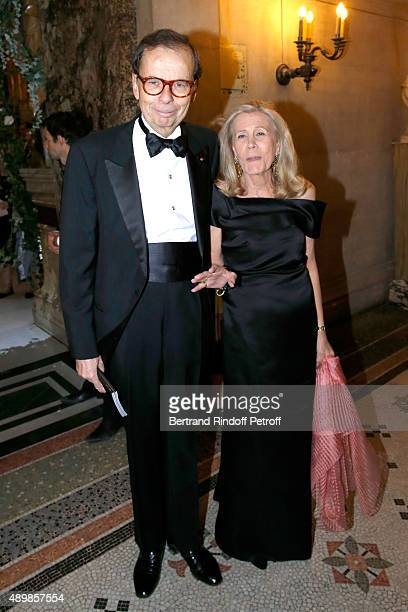 Louis Schweitzer and his wife Agnes attend the Ballet National de Paris Opening Season Gala at Opera Garnier on September 24 2015 in Paris France