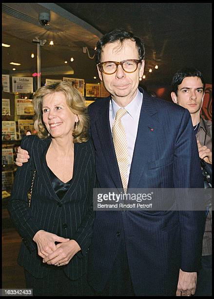 Louis Schweitzer and his wife Agnes during the reopenning the Drugstore Publicis on the Champs Elysees in Paris 2004