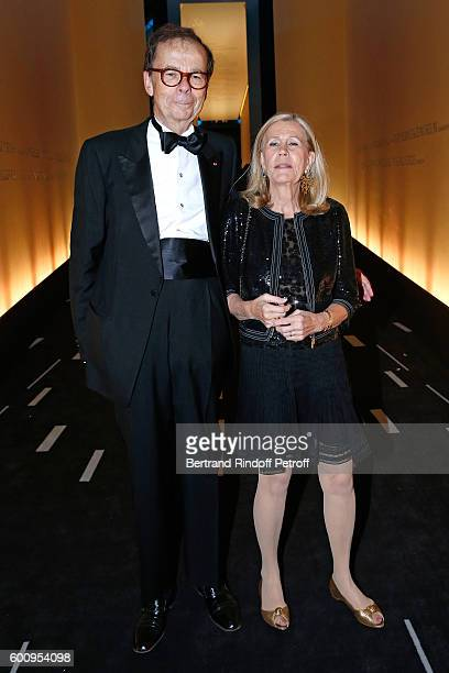 Louis Schweitzer and his wife Agnes Schmitz attend the 28th Biennale des Antiquaires PreOpening at Grand Palais on September 8 2016 in Paris France