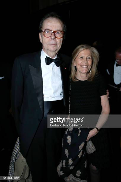 Louis Schweitzer and his wife Agnes Schmitz attend the AROP Charity Gala with the representation of 'Carmen' at Opera Bastille on March 10 2017 in...