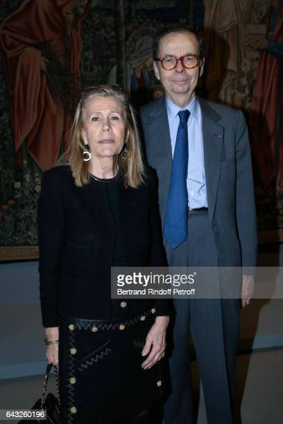 Louis Schweitzer and his wife Agnes Schmitz attend the Private View of 'Icones de l'Art Moderne la Collection Chtchoukine' at Fondation Louis Vuitton...