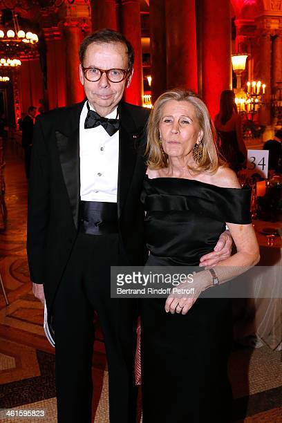 Louis Schweitzer and his wife Agnes Schweitzer attend Arop Charity Gala with 'Ballet du Theatre Bolchoi' Held at Opera Garnier on January 9 2014 in...
