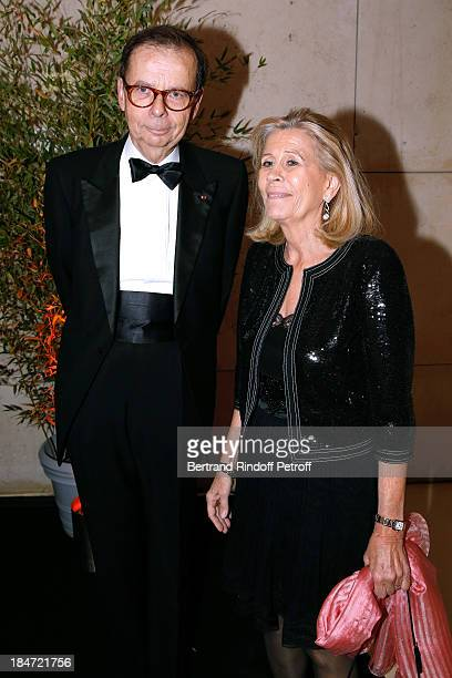 Louis Schweitzer and his wife Agnes Schweitzer attend AROP Gala at Opera Bastille with a representation of 'Aida' on October 15 2013 in Paris France