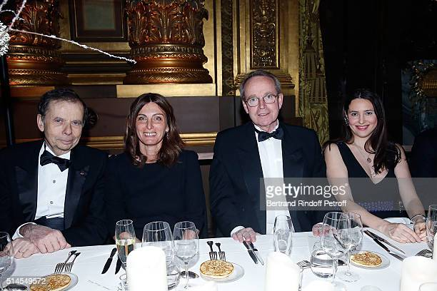 Louis Schweitzer Laurence Katche Renaud Donnadieu de Vabres and Sonya Yoncheva attend the Arop Charity Gala At the Opera Garnier under the auspices...